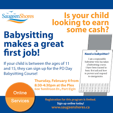 details saugeen shores attachments babysitting course flyer