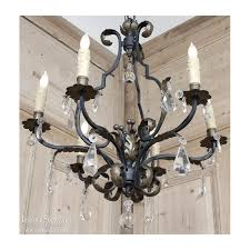 chic iron and crystal chandelier antique wrought iron chandelier antique wrought iron and crystal