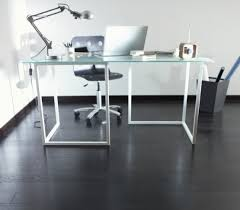 Black laminate flooring in small home office Flooring Ideas
