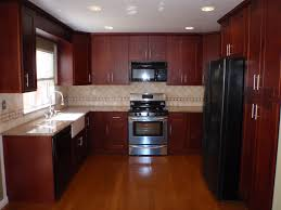 Cherry Shaker Kitchen Cabinets Kitchen Best Wall Color For Kitchen With Dark Cherry Cabinets