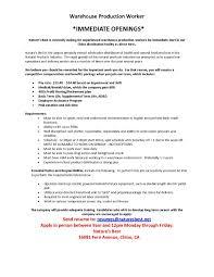 Warehouse Worker Resume Enchanting Resume Job Description For Warehouse Worker Save Warehouse Job