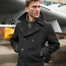 appealing mens pea coat long 9