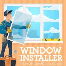 Window Installer Windows Installation Service Company Vector