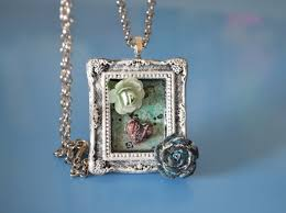 diy tutorial mini vintage frame pendant from ivanka s little treasures black and white design