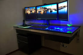 best computer furniture. desk design ideas three monitor best computer gaming room office multimedia decorations big furniture