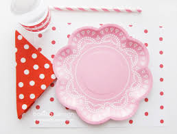 Pink Flower Paper Plates Pink And White Paper Plates Pink Blue And Yellow Paper Plates With