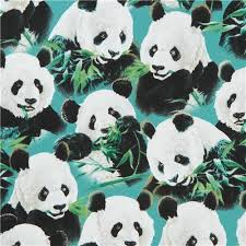 teal fabric with cute panda animal Quilting Treasures - Animal ... & teal fabric with cute panda animal Quilting Treasures 1 Adamdwight.com