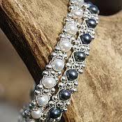 Плетёный женский <b>серебряный браслет</b> с кристаллами <b>Swarovski</b>