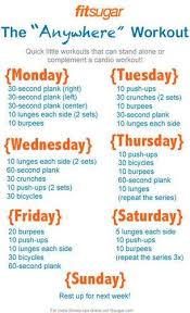 Printable Workouts Workout Posters At Home Workouts Exercise