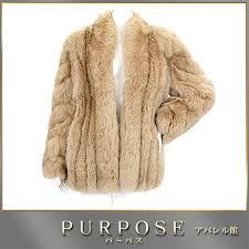 saga fox saga fox fox fur coat half length beige brown 11 lady s used apparel