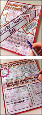 quadratic formula doodle notes gets the two hemispheres of the brain to communicate