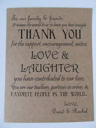 wedding thank you card guests' dinner plates or wedding favor Wedding Favor Message Ideas wedding thank you card guests' dinner plates or wedding favor $0 75, via Wedding Favor Messages From Lava