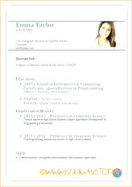 Resume Format Application Resume Format For Job Application In Ms Word Pattern Curriculum