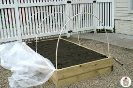 how to make a raised garden bed cover homemade plastic raised garden beds all plastic raised