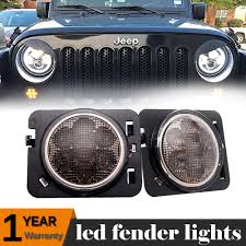Led Lights For 2013 Jeep Wrangler Details About Smoke Lens Led Fender Side Marker Parking Light For Jeep Wrangler Jk 2007 2017