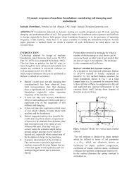 Machine Foundation Design Formula Pdf Dynamic Response Of Machine Foundations Considering