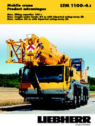 Ltm 1100 4 2 Load Chart Liebherr Ltm 1100 Series Specifications Cranemarket