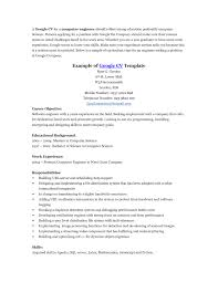 Google Resume Examples - Resume And Cover Letter - Resume And Cover