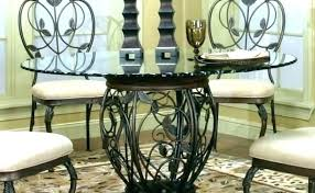 round glass dining table with chairs round glass top dining set oval glass dining table set