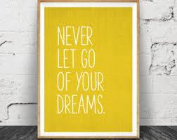 inspirational quote wall art dreams mustard yellow decor motivational minimalist typography quote poster printable quote wall art quote on wooden wall art inspirational quotes with quote wall art etsy
