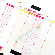 meal planner free monthly and weekly free printable meal planner printable crush