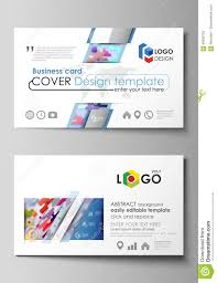 Business Card Templates Abstract Vector Design Layouts Bright