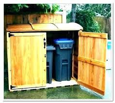outdoor garbage can storage bin garbage bin storage outdoor garbage bin storage best garbage can storage images on outdoor projects cedar outdoor wooden