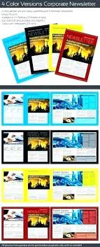 Newsletter Templates Pages One Page Newsletter Template