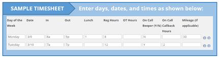 Time Sheet Online Online Timesheet Medestar