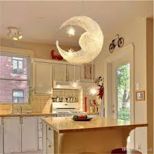 pendant lighting for living room. Bedroom Moon Stars Pendant Lamps Led Modern Ceiling Light Lighting Lamp Living Room Chandelier With G4 Bulb Lights In For