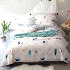 flamingo printing duvet cover set for s twin queen king size bedding set 100 cotton flamingo