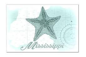 mississippi starfish teal coastal icon 18x12 acrylic wall sign  on starfish wall art amazon with amazon mississippi starfish teal coastal icon 18x12