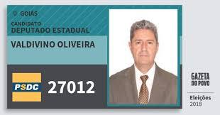 Valdivino Oliveira 27012 (DC) Deputado Estadual | Goiás | Eleições 2018