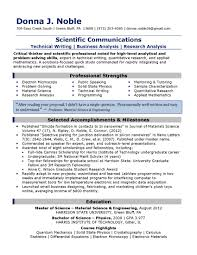 Chic Samples Of A Well Written Resume For Your How Write A Good