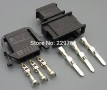 3 wire harness online shopping the world largest 3 wire harness 4 10 50 100set 3 pin car sensor plug auto wire harness connector 3 way electrical socket 191 972 703 191 972 713 for vw car ect
