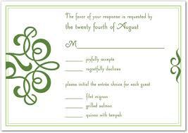 Response Cards For Weddings Classic Flourish Green Rsvp Cards Wedding Response Cards 29679