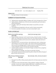 Resume Examples Medical Assistant Simple Medical Front Office Manager Resume Sample Administrator For Nurse R