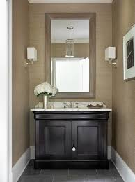 powder room furniture. taupe and black powder room features walls clad in textured wallpaper phillip jeffries furniture b