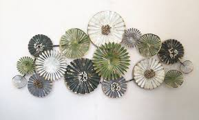 plant painting metal sculpture wall
