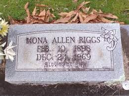 RIGGS, MONA (CLOSE UP) - Ouachita County, Arkansas   MONA (CLOSE UP) RIGGS  - Arkansas Gravestone Photos