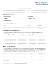 Printable Medical Release Form For Children Stunning Medical Authorization Form Example Release Of Information Template