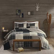 heavy winter quilts.  Heavy Woolrich Winter Hills KingCal King Size Quilt Bedding Set  Grey Tan Plaid Throughout Heavy Quilts