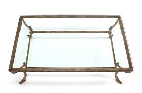 20th century heavy wrought iron studio work base glass top coffee table for
