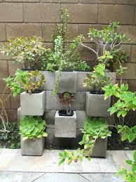 Concrete Block Planters Cinder Block Garden Cinder Block Garden Wall  Fountains And Architectures Build Concrete Block Garden Wall