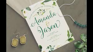 Diy Wedding Invitation Designs Photoshop Tutorial How To Create A Wedding Invitation Design