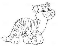 Cucciolo Di Tigre Disegni Da Stampare Disegni Da Colorare E