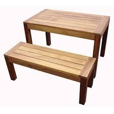 iroko dark wood bench tf