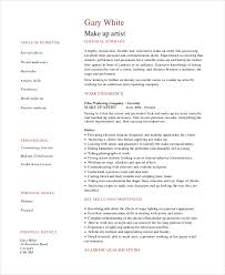 Professional Makeup Artist Resume Example Images Photos Artist