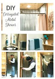 corrugated metal shower outdoor