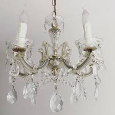 Alter Kronleuchter Lüster Kristall Antik